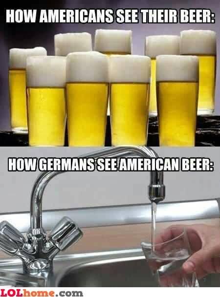 How Americans See Their Beer How Germans See American Beer