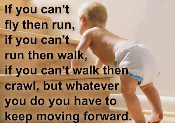 If You Cant Fly Then Run If You Cant Run Then Walk If You Cant Walk Then Crawl But Whatever You Do You Have To Keep Moving Forward