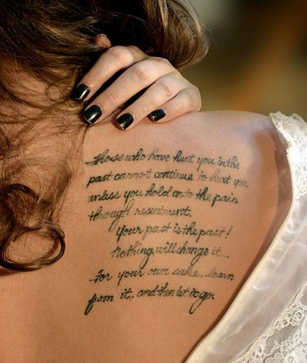 Most Amazing Tattoo Quotes For Women On Back Women Tattoo