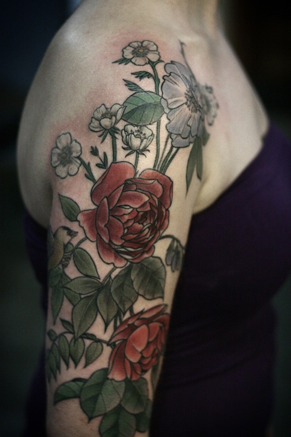 Most Amazing Color Tattoo On Sleeve With Colorful Ink For Man Woman