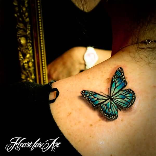 Most Simple Realistic Butterfly Tattoos For Women On Back On Back With Beautiful Ink For Women