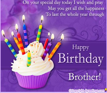 on your special day today i wish and pray may you get all the happiness to last the whole year through happy birthday brother.Birthday Quotes