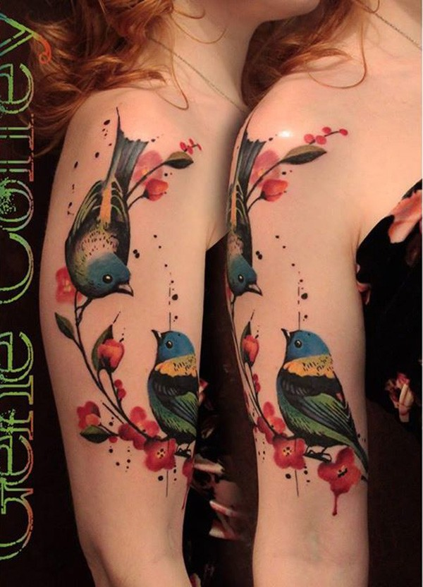 Outstanding Amazing Colorful Tattoo With Colorful Ink For Man Woman