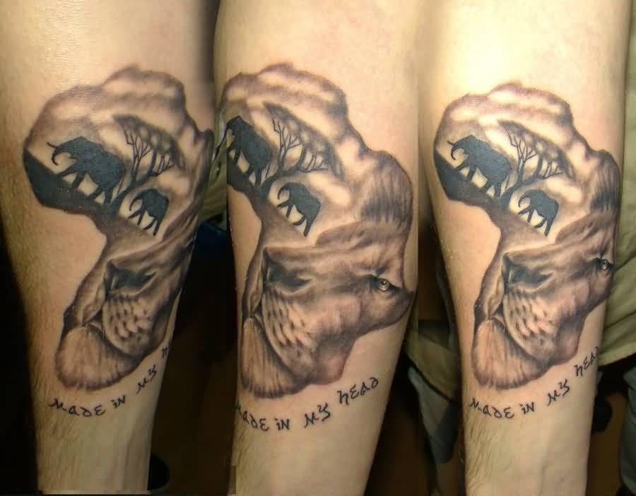 African Animal Tattoo