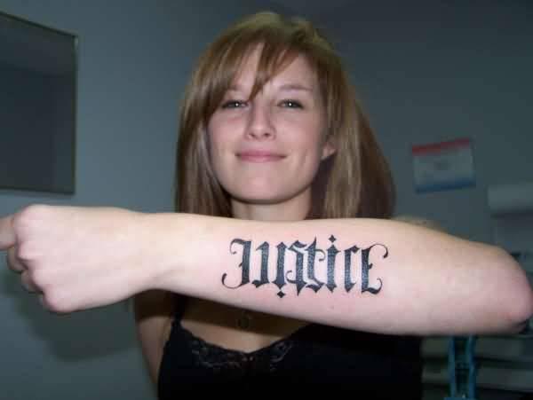 Ambigram Word Tattoo
