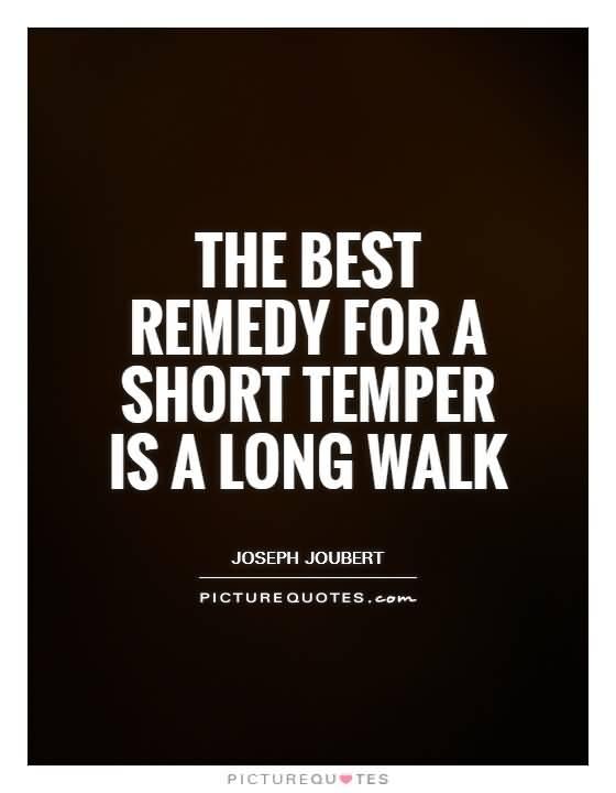 The Best Remedy For A Short Temper Is A Long Walk Joseph Joubert