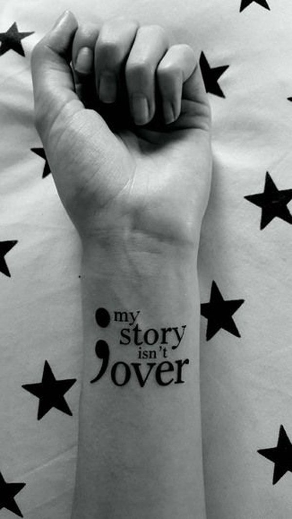 Ultimate Semicolon Tattoo With Black Ink For Man Woman