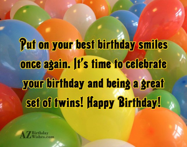 A Great Set Of Twins Happy Birthday Wishes Image