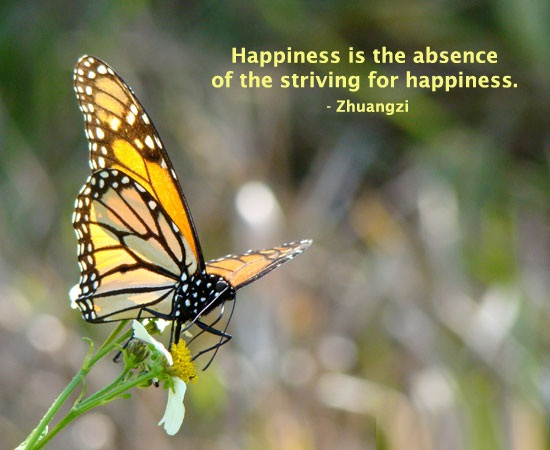 Absence Quotes Happiness Is The Absence Of The Striving For Happiness Zhuangzi