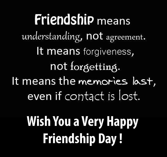 Awesome Quotes On Happy Friendship Day Greetings Image