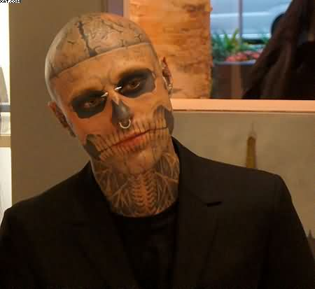 Awesome Zombie Tattooed Boy