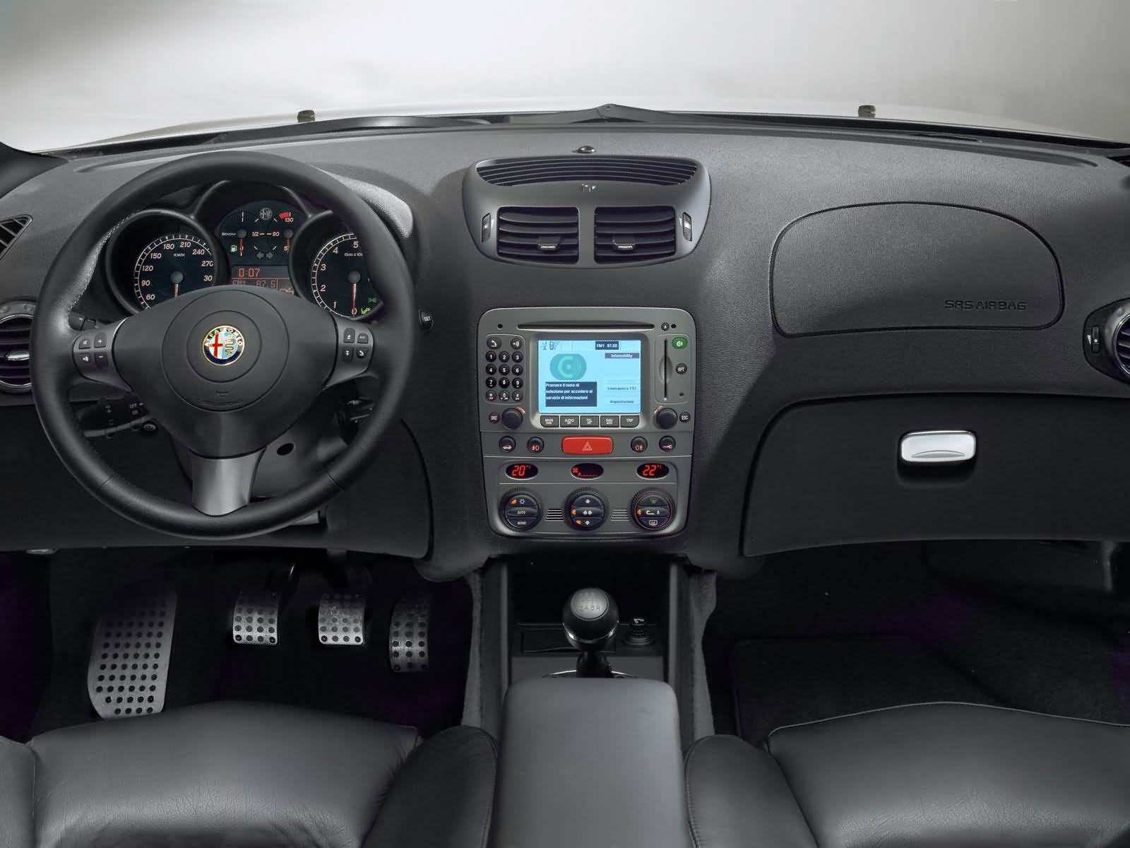 Awesome front inside view of White colour Alfa Romeo 147 GTA Car