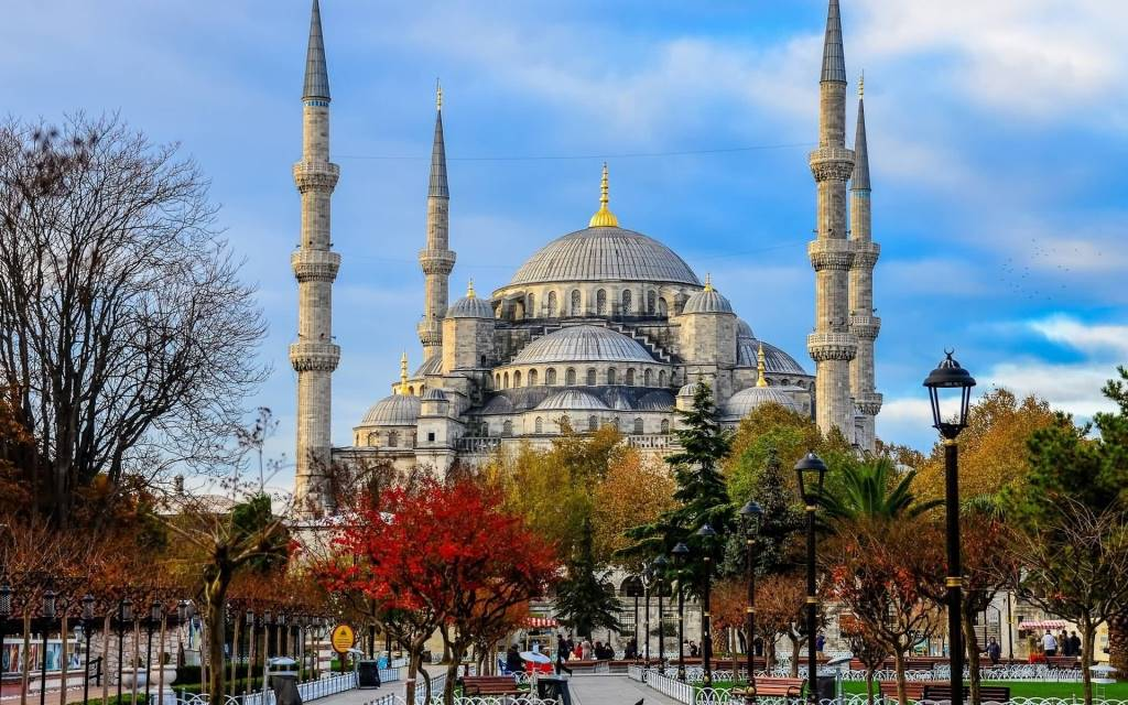 Beautiful Blue Mosque Istanbul Turkey Full HD Wallpaper
