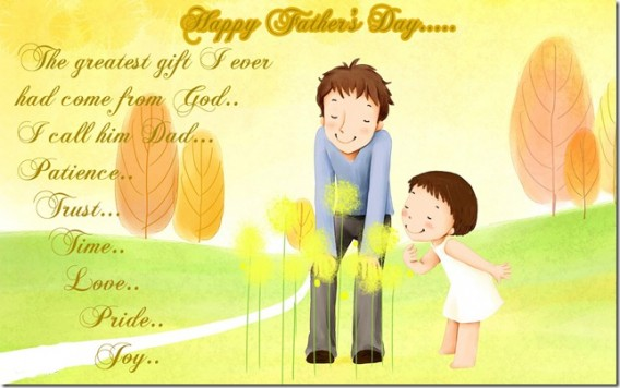 Beautiful Happy Father's Day Wishes Quotes Image