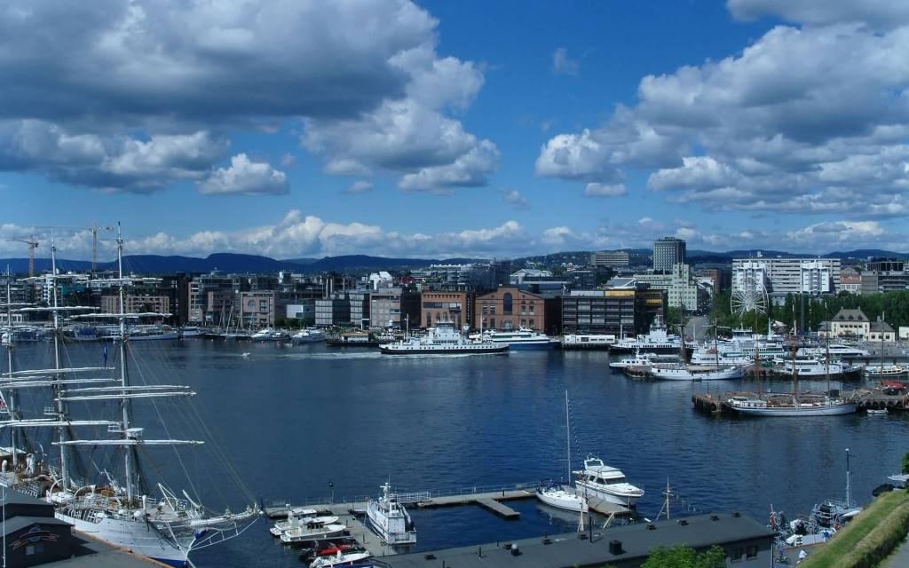 Beautiful Oslo fjord Full HD Wallpaper