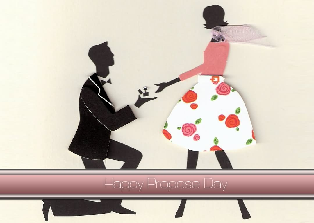 Beautiful Propose Day Greeting Card Image