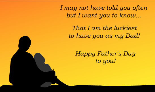 Beautiful Quotes On Happy Father's Day Image