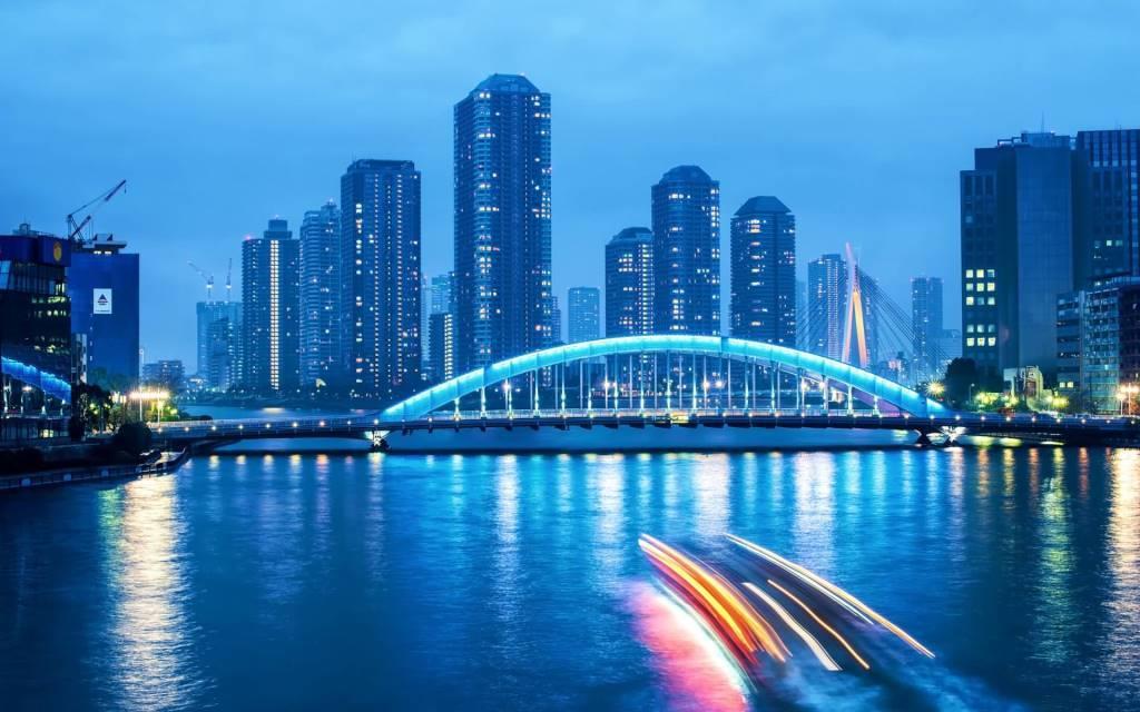 Beautiful Tokyo Bridge Full HD Wallpaper