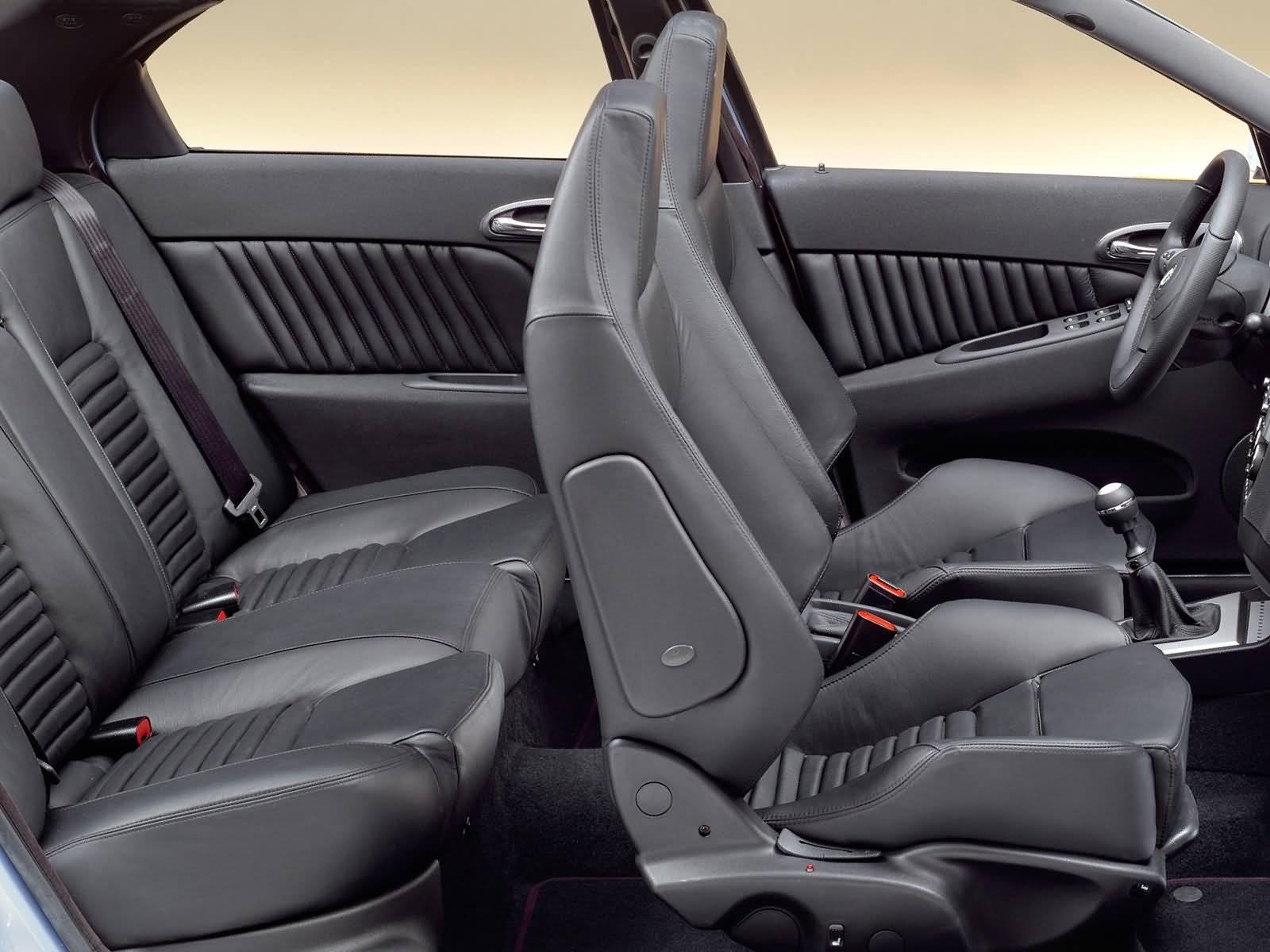 Beautiful inside black seat of Alfa Romeo 156 GTA Car