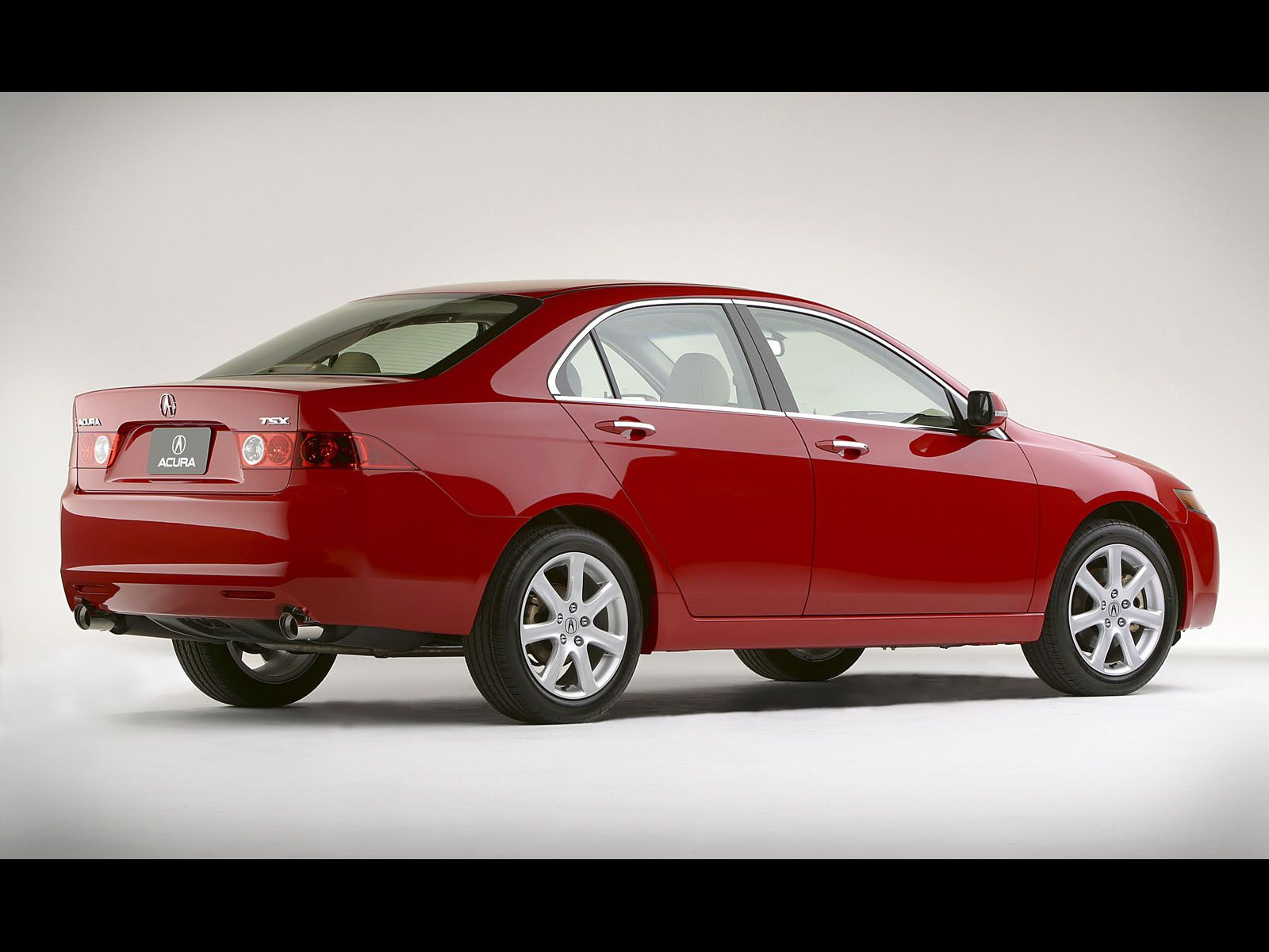 Beautiful red Acura TSX car right side view