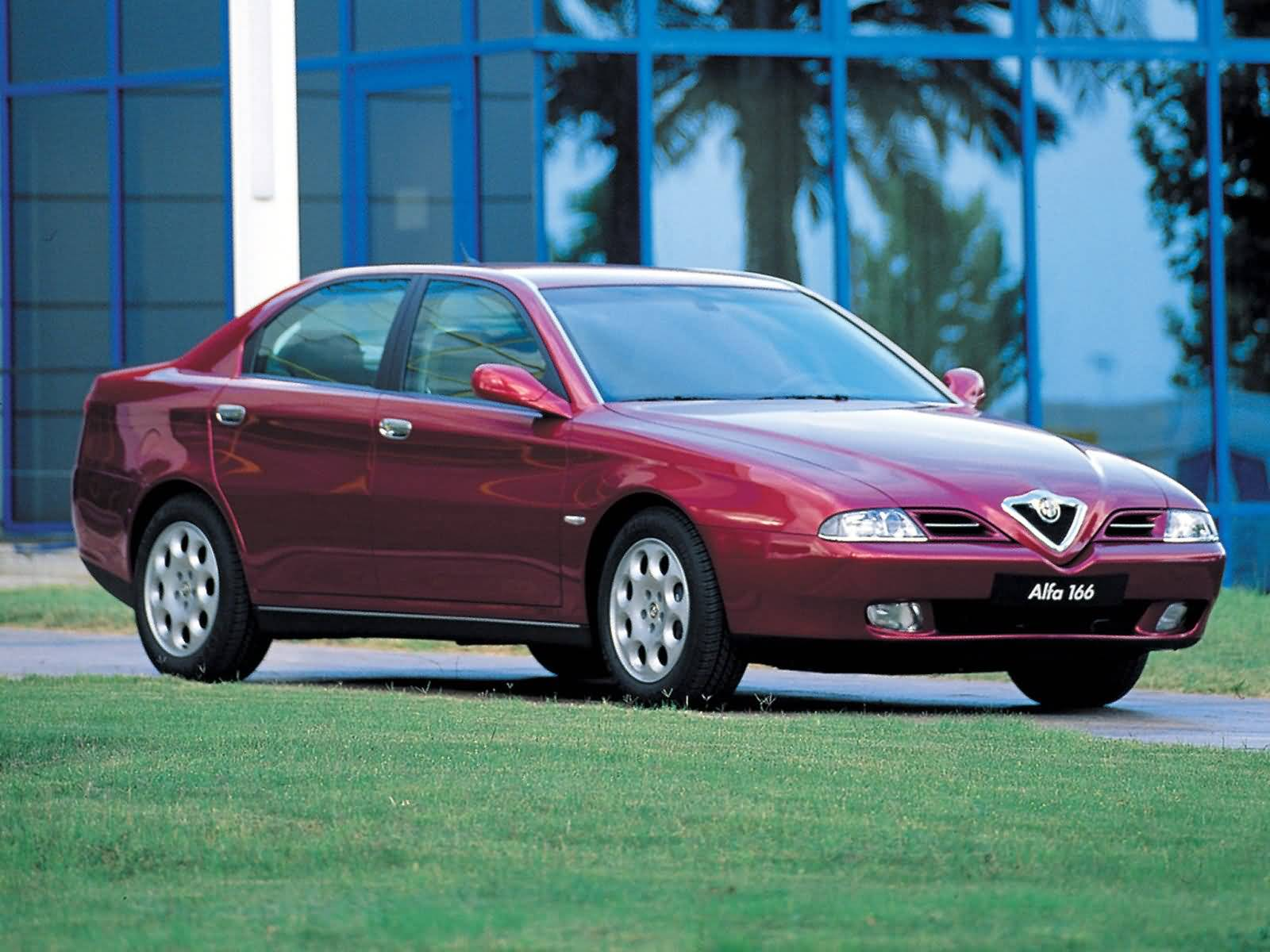Beautiful red colour Alfa Romeo 166 Car