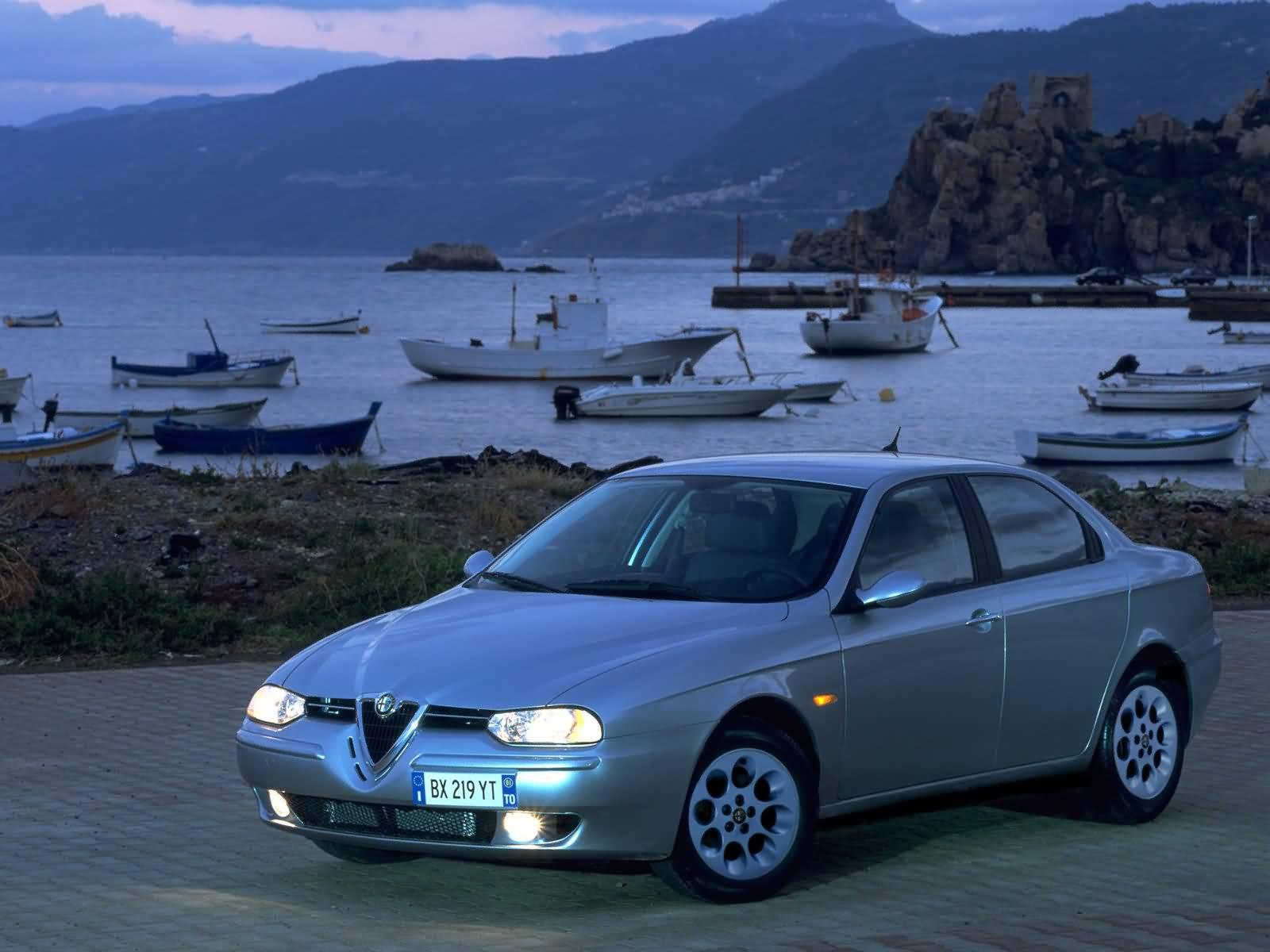 Beautiful silver colour Alfa Romeo 156 Car