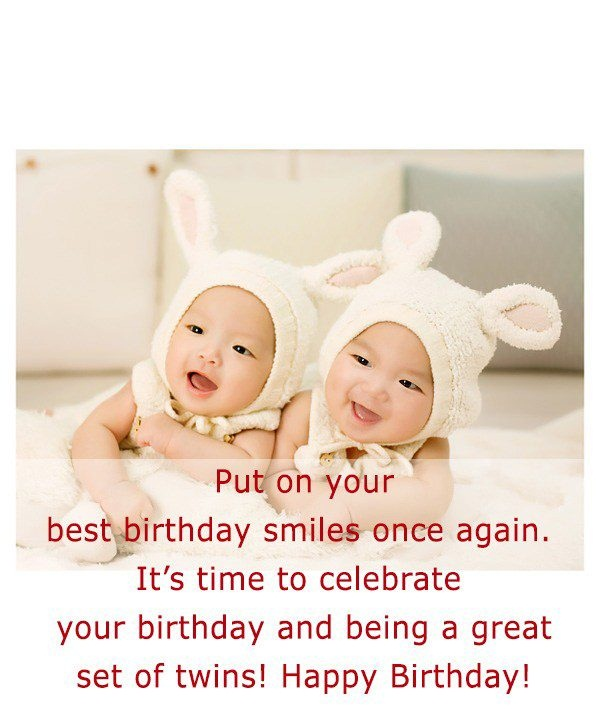 53 fabulous birthday wishes for twins greetings and sayings picsmine best birthday wishes you both greetings message image m4hsunfo Choice Image