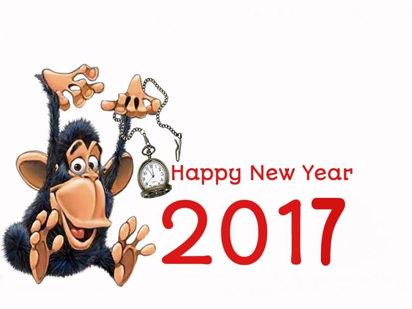 Best Friends Funny Greetings On Happy New Year 2017 Wishes Image