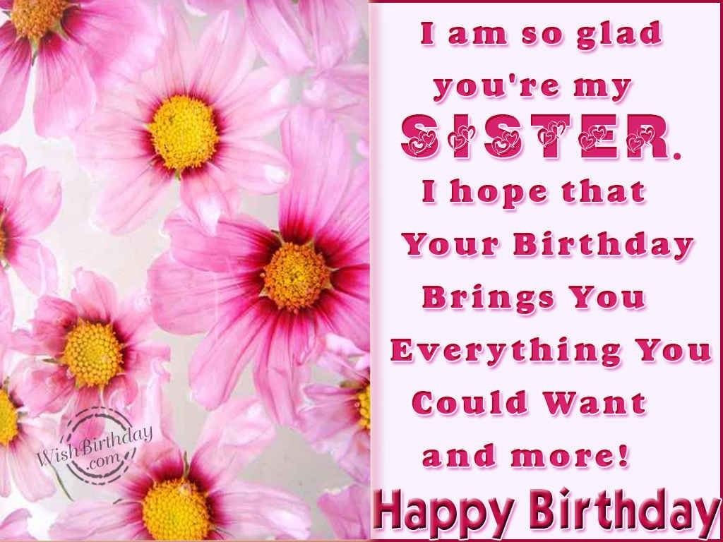 Birthday Wishes For Dear Sister Image