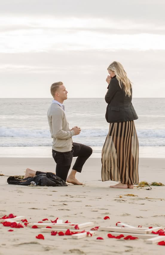 Boy Propose To Girl Happy Propose Day Image