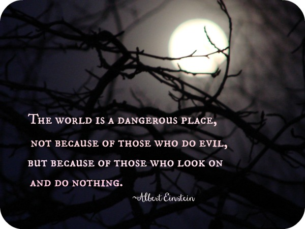 Bullied Quotes The world is a dangerous place not because of those who do evil but because of those who look on and do nothing. Albert Einstein