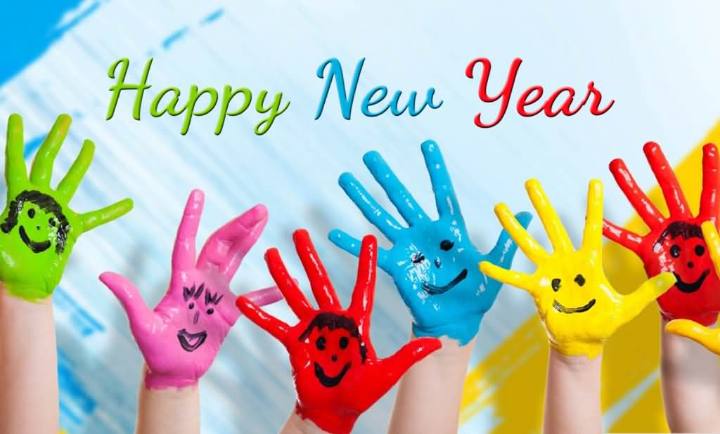 Colorful Happy New Year Wishes Image