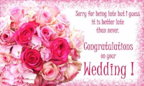 Congratulation On Your Wedding Greeting Picture