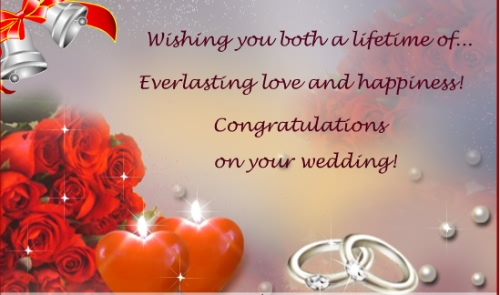 Congratulations On Your Wedding Greeting Image