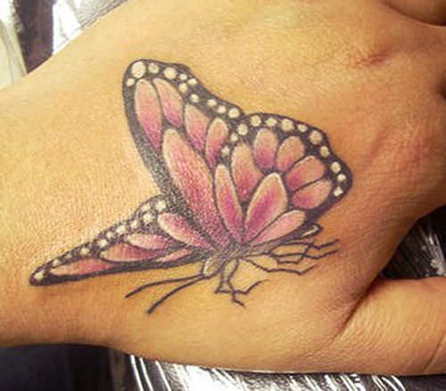 Cool Butterfly Tattoo For Hand