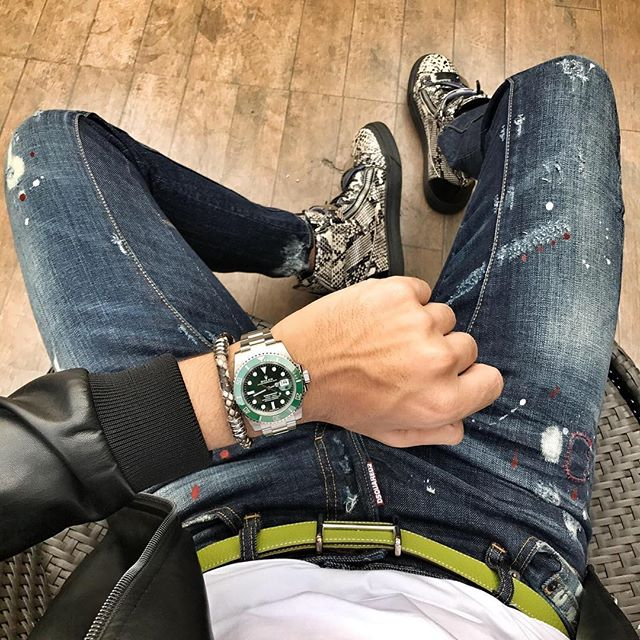 Cool Guy With Funky Watch And Nice Bracelet