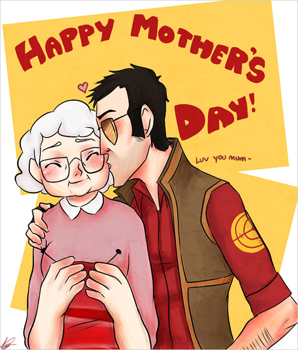 Cute Happy Mothers Day Greetings Image