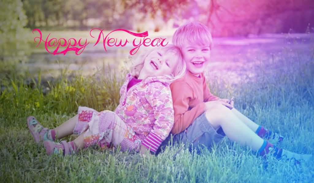 Cute Wishes Happy New Year Sister Image