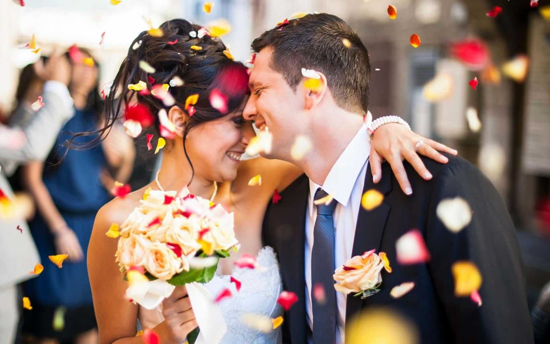 Fabulous Bride Groom Marriage Wallpaper