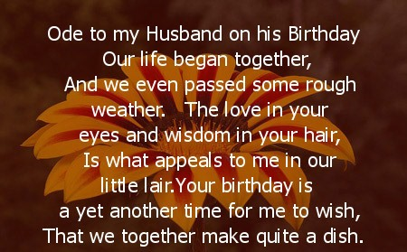 Fabulous Quotes On Happy Birthday Husband Wishes Image