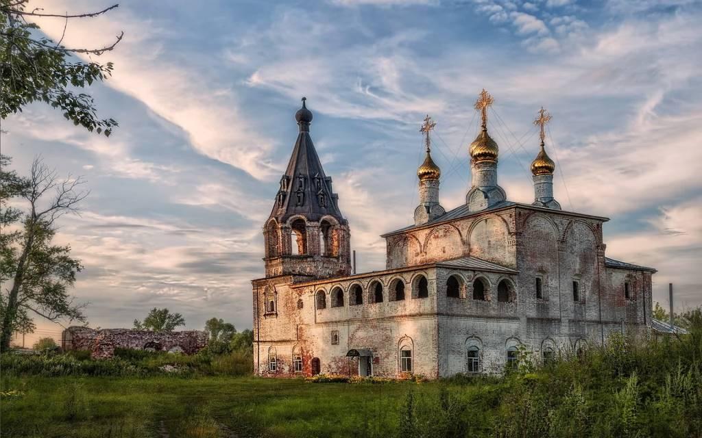 Fantastic Old Orthodox Church Full HD Wallpaper