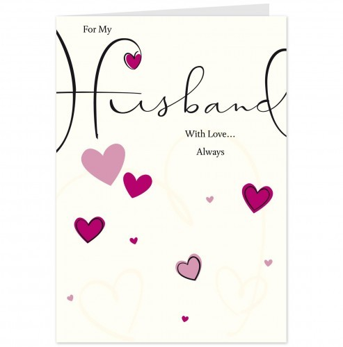 For My Wonderful Husband Wishes Card Image