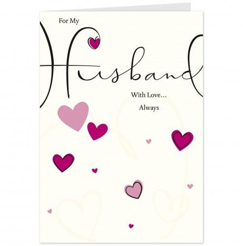 For My Wonderful Husband Wishes Card Image