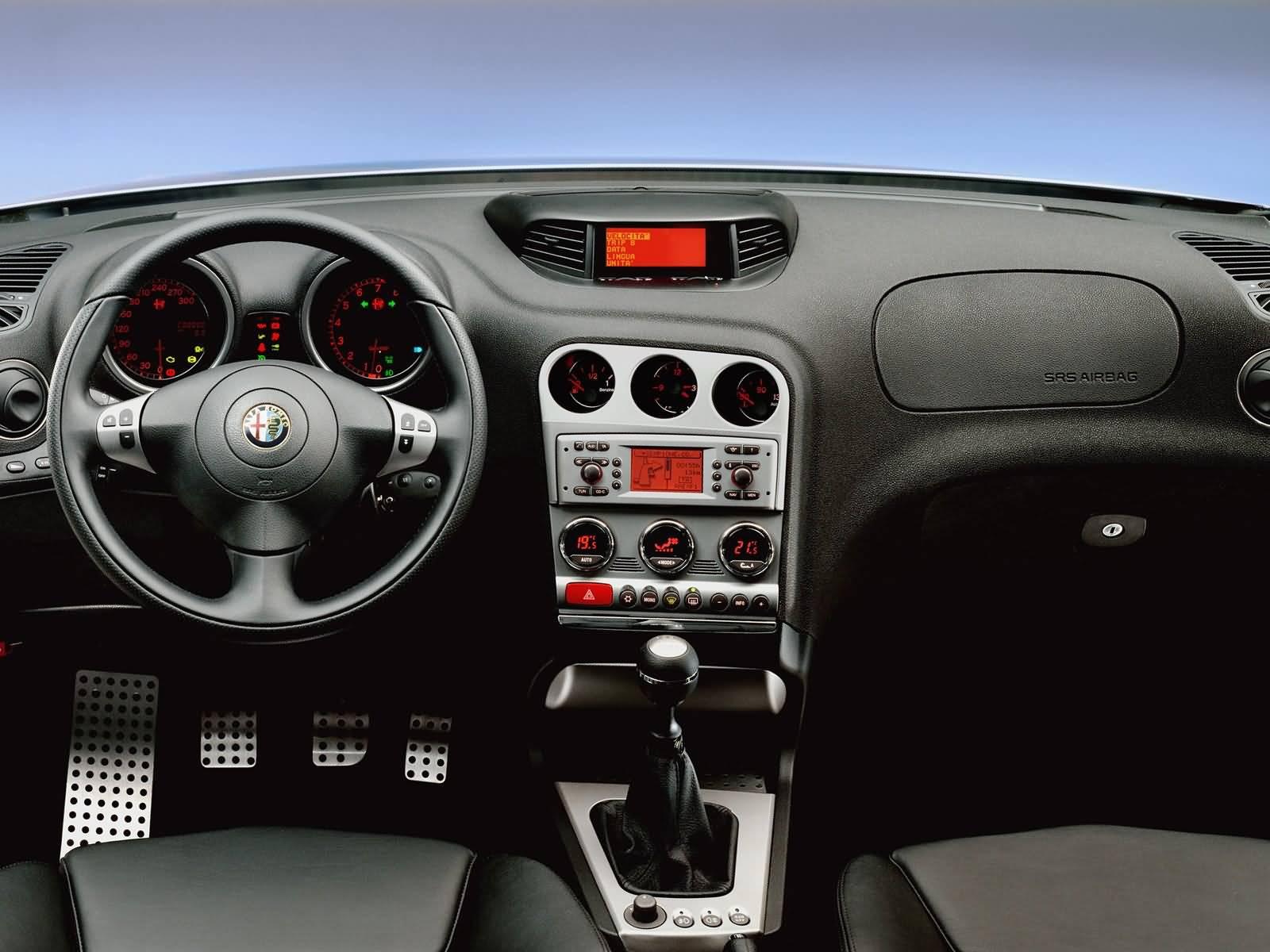 Front inside of Alfa Romeo 156 GTA Car