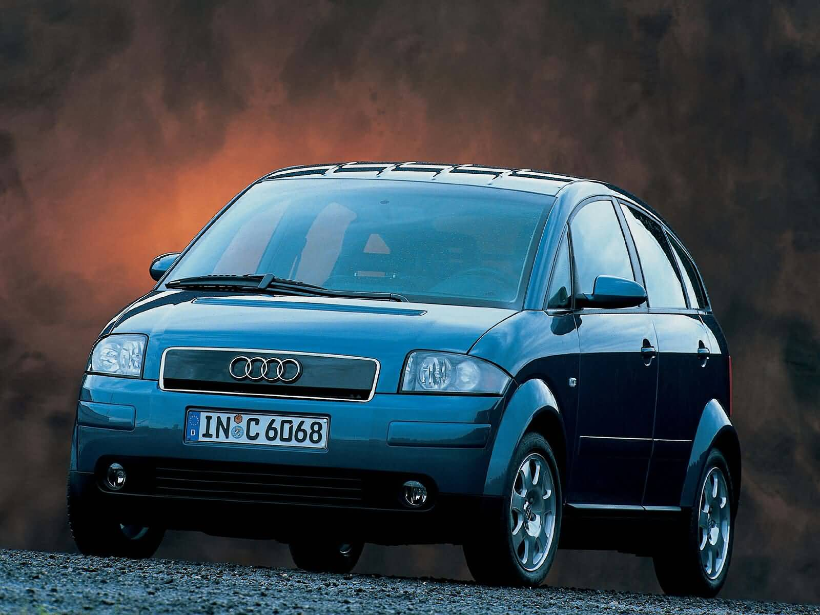 Front side view of Great Audi A2 Car