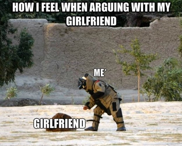 Funny Girlfriend Memes How I Feel When Arguing With My Girlfriend Images