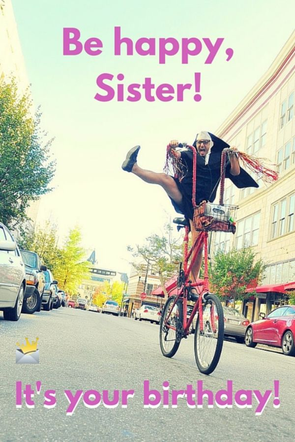 Funny Sister Happy Birthday Wishes Image
