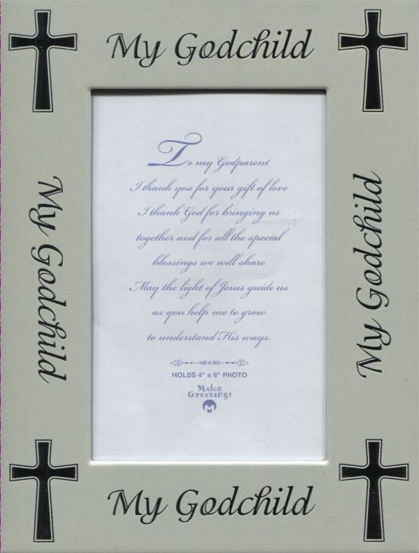 Godson Quotes Beautiful My godchild Greeting Frame Card