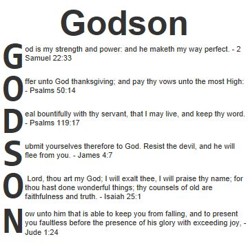 Godson Quotes Godson god is my strength and power and he maketh my way perfect