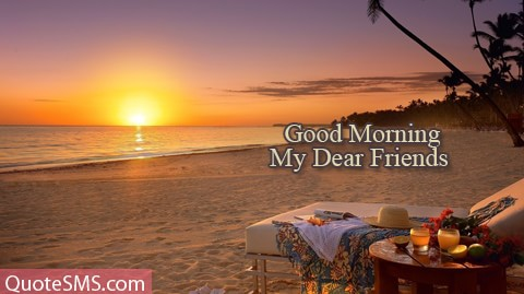 Good Morning My Dear Friends Wishes Image